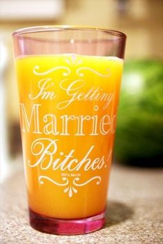 Shot Glasses / Bachelorette Idea? Bridesmaids .. perfect for @corymcredmond for when the time comes.