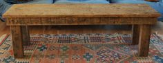 Reclaimed Wood Coffee Table Antique Barnwood 150 Year Old