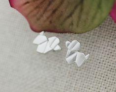 Cute Origami Animals Stud Earrings (Puppy, Rabbit, Bird, Elephant, Lla