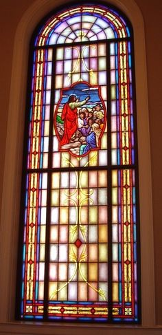 Stained Glass Windows at First Baptist Church in Sylva, NC