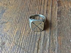 Louella Sterling Signet Ring with Crossed Arrows