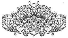 Resultado de imagem para barong mask drawing