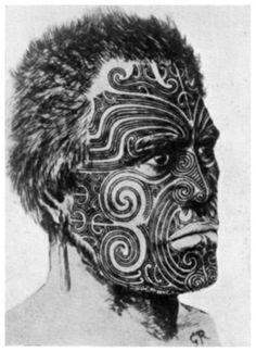 Chapter 41- Maori face tatto