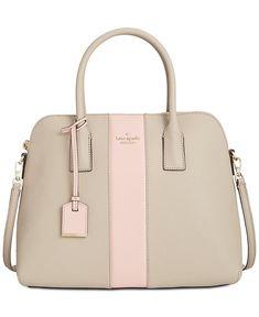 kate spade new york Cameron Stripe Racing Stripe Satchel - Designer Handbags - Handbags & Accessories - Macy's - satchel handbags on sale, yellow handbags, shop cheap handbags online