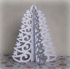 Paper lace tree (with template) tutorial #crafts #DIY