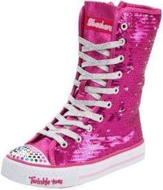 "Pink sequin ""Twinkle Toes"" shoes"
