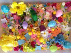 Easter and Spring sensory tub