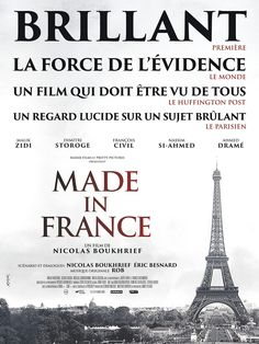 Made in France Movie Poster / Affiche ( of Nassim, Frances Movie, Drame, Made In France, Box Office, How To Make, Movie Posters, Films, France
