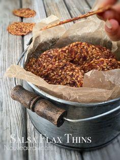 Salsa Flax Thins (raw, vegan, nut-free, gluten-free)