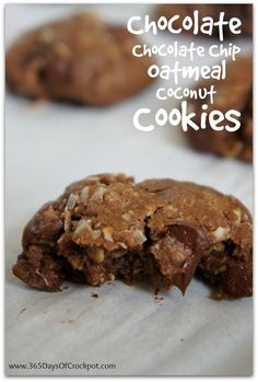 Recipe for Chocolate-Chocolate Chip-Oatmeal-Coconut-Raisin Cookies {Fun Friday}
