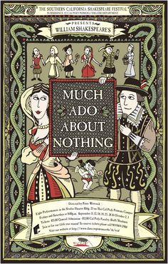 Much Ado About Nothing - Southern California Shakespeare Festival Book Cover Design, Book Design, I Love Books, My Books, Studio Theater, Shakespeare Festival, Graphic Design Books, Art Thou, Book Themes