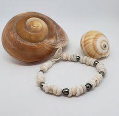Puka Bracelet Naturally Beach Tumbled Shells From Kauai 6 by KuuipoDesignerJewels on Etsy Shell Choker, Shell Bracelet, Shell Earrings, Small Gift Boxes, Small Gifts, Hawaiian Jewelry, Beaded Necklace, Beaded Bracelets, Lavender Color
