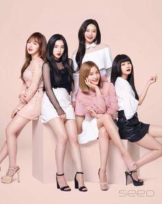 Wendy, Irene, Yeri, Joy und Seulgi - Super K-Pop Red Velvet Ice Cream, Wendy Red Velvet, Red Velvet Joy, Red Velvet Irene, Kpop Girl Groups, Kpop Girls, K Pop, Asian Music Awards, Red Velvet Photoshoot