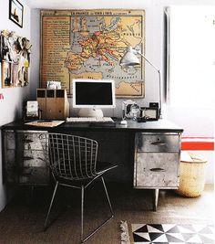 44 Awesome Masculine Home Office Design Ideas Home Office Space, Office Workspace, Office Decor, Office Ideas, Desk Office, Mini Loft, Workspace Inspiration, Interior Inspiration, Minimal Desk