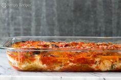 Eggplant Parmesan ~ A classic Italian baked eggplant Parmesan casserole with breaded eggplant slices layered with Mozzarella, Parmesan, basil, and tomato sauce. ~ SimplyRecipes.com