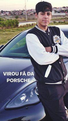 Renato Garcia foto oficial do Instagram de Edukof em seu Porsche Panamera