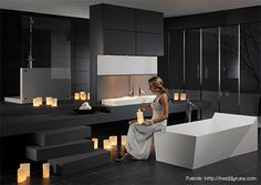 Bathroom:Stylish Bathroom By Duscholux Black Floor Traffic Master Square Contemporary Indoor Ceramic Tile Flooring Irregular Black Staircase.