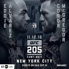Conor McGregor vs Eddie Alvarez #UFC205 promo poster