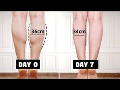 Leg Toner Workout, Gym Workout Tips, Fitness Workout For Women, Workout Videos, Toned Legs Workout, Hiit Workouts For Beginners, Easy Workouts, Skinny Calves, Fat Calves