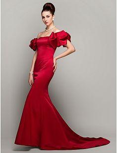 Vestido rojo con hombros @ Vestidos de Fiesta Baratos