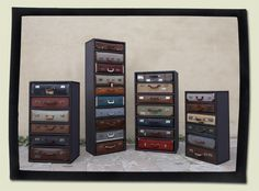 Suitcase Chests by James Plumb