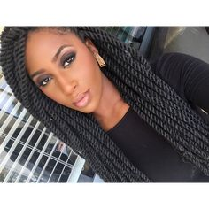 #tbt Weave Hairstyles, Cute Hairstyles, Natural Hair Care, Natural Hair Styles, Faux Loc, Crochets Braids, Hair Extension, Creative Hairstyles, Brown Girl