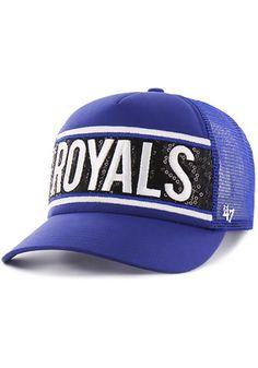 '47 Kansas City Royals Blue Glimmer Text Adjustable Hat