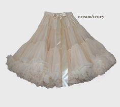 Adult Petticoat 21 Length [adult-petticoat-longer] - £65.00 : Doris Designs, Beautiful petticoats for children and adults. Buy online