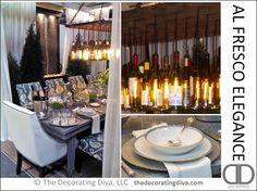 Al Fresco Elegance Table Decor | TheDecoratingDiva.com  Elegant fall and spring dining table ideas.