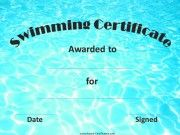 Swimming Certificate Templates Free 8 - Best Templates Ideas For You Funny Certificates, Printable Certificates, Award Certificates, Teacher Checklist, Free Certificate Templates, Swimming Classes, Swim School, Certificate Of Achievement, Sports Awards