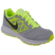 Nike DOWNSHIFTER 6 (GS/PS) Gri Neon Yeşil Erkek Çocuk Koşu Ayakkabısı