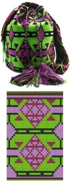 Tapestry Crochet Patterns, Knit Patterns, Sewing Patterns, Beaded Purses, Crochet Purses, Filet Crochet, Knit Crochet, Mochila Crochet, Inka