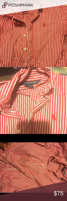 Ralph Lauren Shirt It has been worn , has no flaws , size 8. But is willing to negotiate with price Polo by Ralph Lauren Tops Button Down Shirts