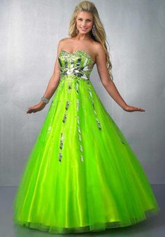light green and blue quinceanera dresses Lime Green Prom Dresses, Neon Prom Dresses, Green Homecoming Dresses, Green Wedding Dresses, Prom Dress 2014, Pretty Prom Dresses, Prom Dress Shopping, A Line Prom Dresses, Ball Gown Dresses