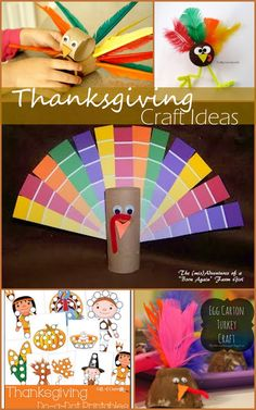 Amazingly simple Thanksgiving Craft Ideas. Super easy Turkey crafts for kids.