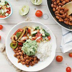 MEXICAN INSPIRED RICE & BEANS BOWL by @earthlytaste