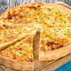 Quiche aux 3 fromages, pomme de terre et jambon