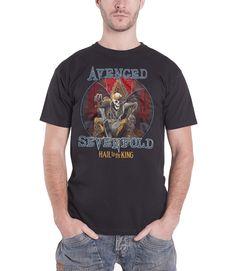 Avenged Sevenfold Mens T Shirt Black Hail to the King Deadly Rule logo - Paradiso Clothing