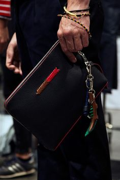 Leather crocodile keyring backstage at Fendi SS15, Milan menswear. More images here: http://www.dazeddigital.com/fashion/article/20450/1/fendi-ss15