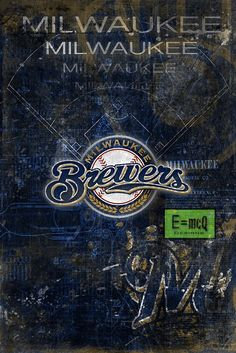 Milwaukee Brewers Poster, Milwaukee Brewers Artwork Gift, Brewers Laye                      – McQDesign