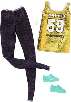 2017_Barbie_Fashionistas_Outfits_Look_Complete_Original_Accessories_Sporty_Jeans_Golden_Doll.jpg (1041×1500)