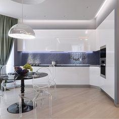 Встроенная белая кухня от фабрики Scavolini. Подвесной светильник Flos Skygaren над столовой группой с круглым чёрным столом и с воздушными стульями фабрики Kartell. Листайте все виды кухни и ставьте лайки. ☺️ #кухня_iD #подборка #кухня #дизайнкухни #kartell #flos #scavolini #interideg#interiordesign#designstudio#houseidea#homedecor#interiordecor#homedesign#интерьер#интерьеры#дизайнинтерьера#дизайн_интерьера#дизайнинтерьеров…