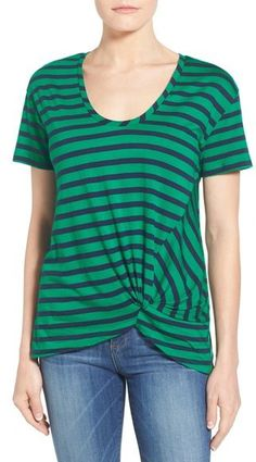 REDUCED! Halogen ® Knot Front Tee (Regular & Petite)