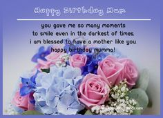 A birthday gift plus the sweetest happy birthday wishes for mom can be a perfect present for her big day! Sweet Mom birthday wishes can make her feel loved.