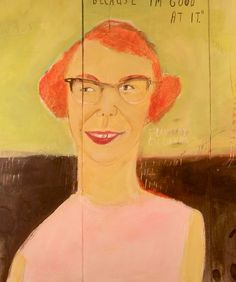 Mary Bergherr - Flannery O'Connor (detail)   http://marybergherr.com/portraits/
