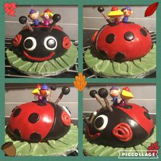 Gaston the Ladybird Cake from Ben and Holly's Little Kingdom