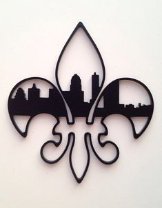 FleurDeLis Louisville Skyline Ornament by DWSMetalDesign on Etsy