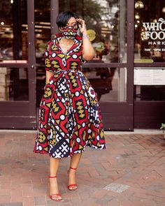 Shirt Gown With Mask Latest Ankara Dresses, Ankara Long Gown Styles, Latest Ankara Styles, Ankara Gowns, African Print Fashion, African Fashion Dresses, African Dress, African Style, African Outfits