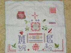 Hand Embroidered Spot Sampler