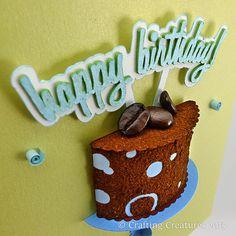 3D Coffee Cake Birthday Card
